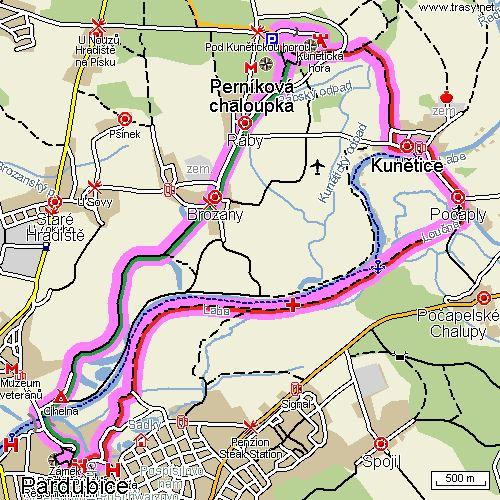 pardubice_kuneticka_hora_mapa